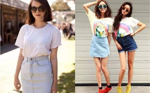 几种经典的牛仔裤配白色T恤的穿法
