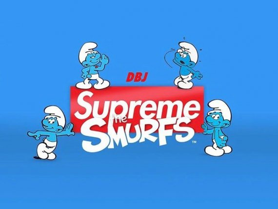 Supreme高街潮牌即将带来蓝精灵联名系列